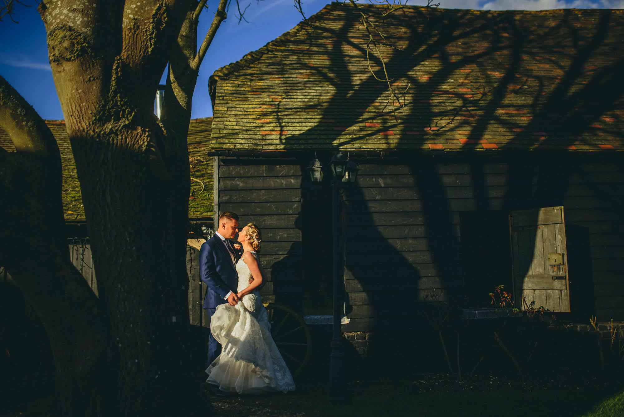 Elegant winters barn wedding Canterbury Kent