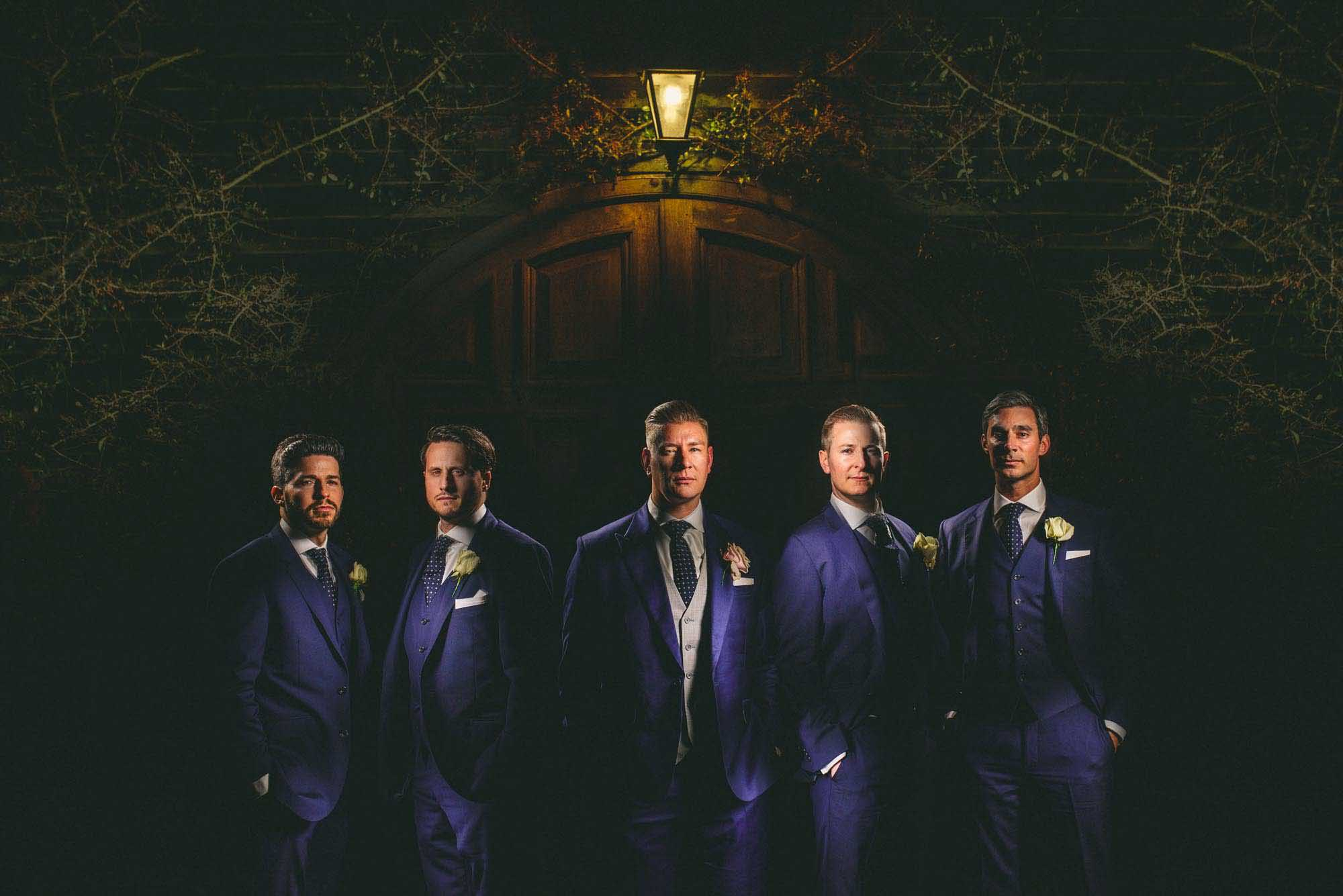 A Suit That Fits groom with TM Lewin groomsmen Kent wedding