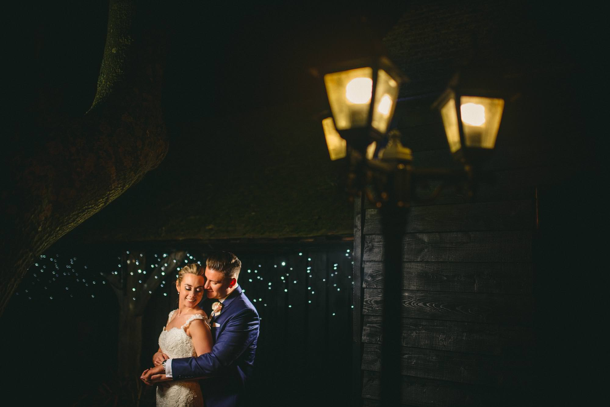 Moonlight wedding portrait Canterbury Kent