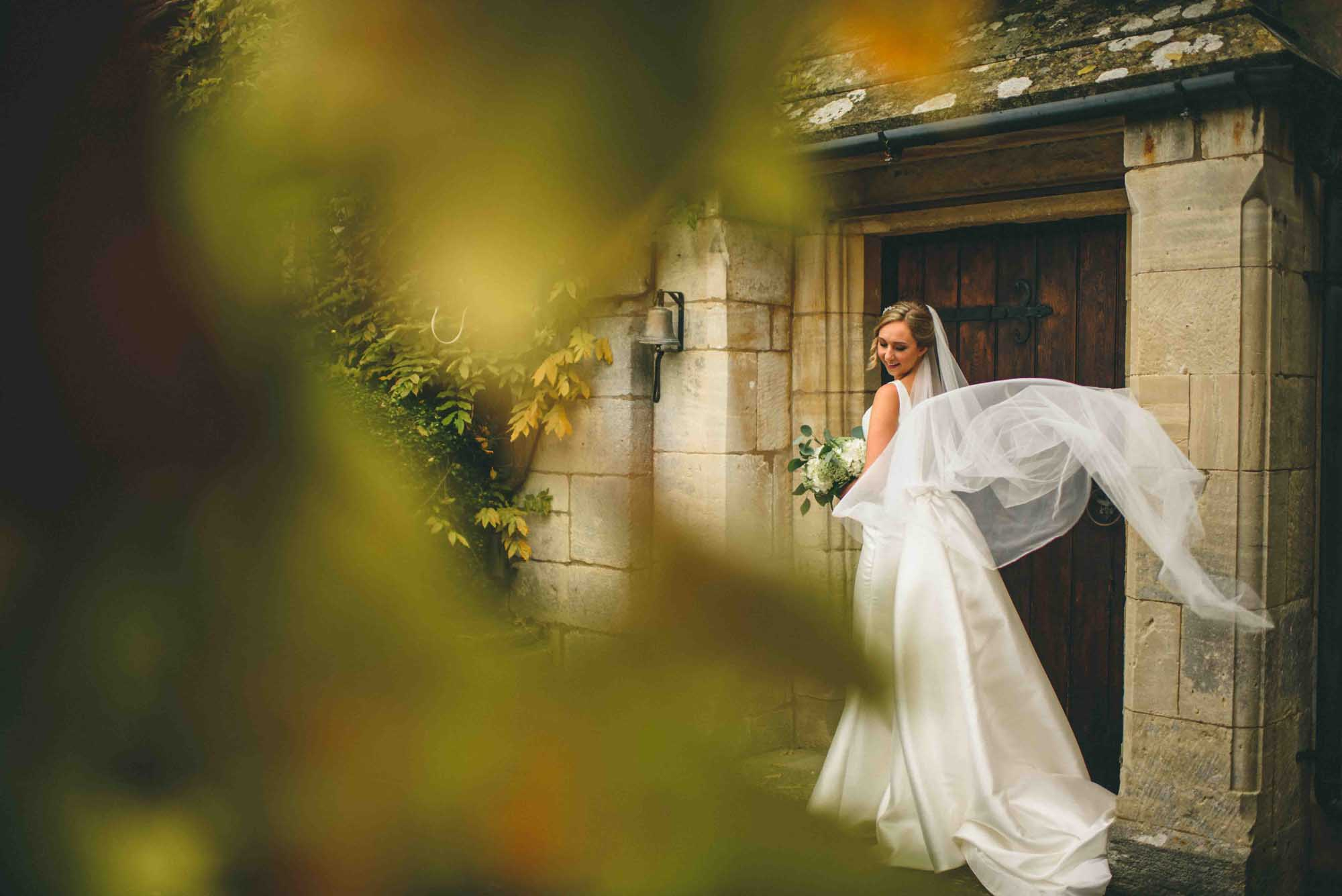 Autumn Bridal Portrait Photo